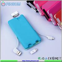 Buy cheap 2015 newest credit card power bank 6000mah with all smartphone connectors from wholesalers