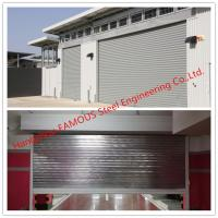 China Fire Prevention Motorized Steel Sliding Doors With American Standard Industrial Folding Door on sale