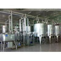 China Turn Key Project Fresh Milk Processing Machine / Dairy Production Equipment with Pasteurization on sale