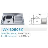 Wholesale Estonia stainless steel kitchen sink 80*50CM from china suppliers