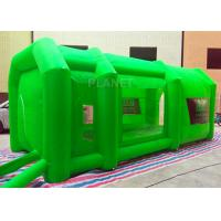 Wholesale Green Color Inflatable Spray Paint Booth 3 D Design For Trade Show from china suppliers