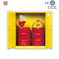 Steel Hazardous Chemical Drum Corrosive Storage Cabinet 3-point self-latching For Flammable Liquids Manufactures