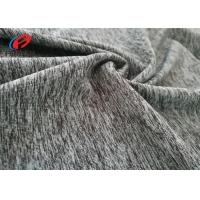 Buy cheap Yoga Stretch Single Jersey Melange Fabric , Polyester Spandex  Fabric from wholesalers