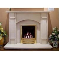 Electric White Marble Fireplace Mantel Manufactures
