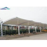 Buy cheap White PVDF Fabric Tensile Roof Car Parking Tensile Structure Shed And Awning from wholesalers