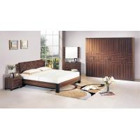 Buy cheap Walnut color Home Furniture,Panel Bedroom Set,Wood Bed and Wardrobe,Nightstand,Dresser with Mirror,Amorie,Chest from wholesalers
