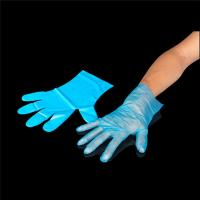 Buy cheap Wholesale gloves transparent and good quality cheap price plastic glove disposable clear pe glove from wholesalers