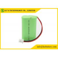 Buy cheap NIMH AA300mah 2.4V Nickel Metal Hydride Battery Pack With Wires / Connector batteries 300 mah AA size 2.4V rechargeable from wholesalers