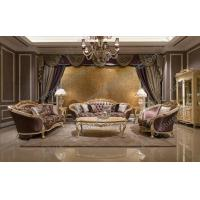 Living Room Furniture Italian Hand Carved Fabric Sofa FF-128