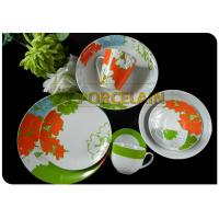 Buy cheap Home Garden Green 32 Piece Coupe Tableware Set On Glaze Comply With International Standard from wholesalers