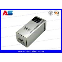 Buy cheap Silver Holographic 10ml Vial Boxes Custom Pharmaceutical Small Cardboard Boxes Printing from wholesalers