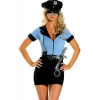 Quality Women'S Erotic Halloween Adult Costumes Sexy Cop Cosplay  P.D. Blue Superwoman for sale