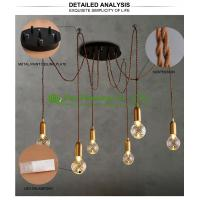 fashional modern chandeliers pendant lights edison bulbs A19 A60high ceiling pendant lighting Ceiling lamp Manufactures