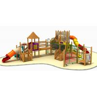Buy cheap anti-static eco-friendly wooden outdoor playground equipment from wholesalers