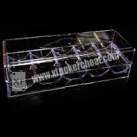 Buy cheap 8 - 40cm Distance Poker Scanner Plastic Chip Box / Poker Chip Tray from wholesalers