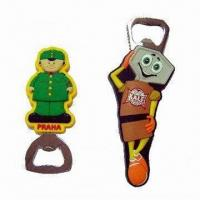 Wholesale Bottle Openers with Soft PVC Cover, Available in PMS Colors, Customized Logos and Shapes Welcomed from china suppliers