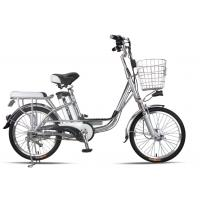Buy cheap 20 Inches Battery Powered Bicycles Sliver Commuter Electric Bike 48V8Ah from wholesalers