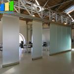 Buy cheap Unframed Glass Doors Sliding Partition Walls Frameless Aluminum Glass Partition Folding Door from wholesalers