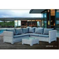 Outdoor / Indoor Weatherproof Rattan Garden Furniture , Rattan Garden Sofa Sets