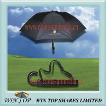 Buy cheap 23 x 8 ribs auto 2 fold black umbrella from wholesalers