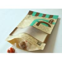 Buy cheap Gravure Printing Plastic Pouch Packaging , Flat Bottom Coffee Bags With Window from wholesalers