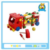 Buy cheap educational toys for kids-Wooden Pegs Game wih disassembly nut car-Screw tap station car from wholesalers