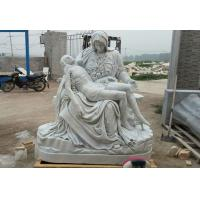 China Saint Mary & Jesus marble sculpture ,Nature stone with polish,China stone carving Sculpture supplier on sale
