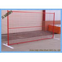 Powder Coated Temporary Mesh Fencing Low Carbon Steel Wire 8FT X 10FT Mesh Panel