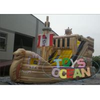 Buy cheap Outdoor Commercial Inflatable Pirate Ship With Water Slide 2 Years Warranty from wholesalers