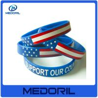 Wholesale Gold factory custom camouflage silicone rubber wristband with customer's logo from china suppliers