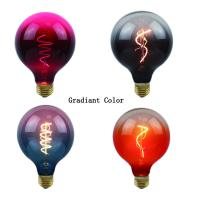 Buy cheap 4 Watt Dimmable G125 Gradient Lamp 2200K Decorative Curved Filament LED Bulb from wholesalers