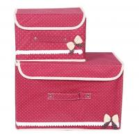 Wholesale Non Woven Fabric Foldable Storage Box Red Collapsible Storage Boxes from china suppliers