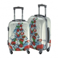 Buy cheap Aluminum Trolley Polyester Printing Travel Luggage Sets from wholesalers