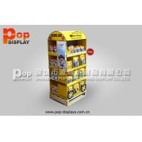 China Portable Shelf Cardboard Pallet Shipper Display For Dog / Cat Food Market Promotion on sale