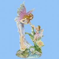 Buy cheap Polyresin Fairy Family Figurines (Mon and Dau), Best Image for Wedding Souvenirs from wholesalers