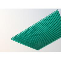 Buy cheap Soundproof Polycarbonate Patio Roof Panels , Green Plastic Roofing Sheets from wholesalers