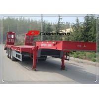 Buy cheap Hydraulic Gooseneck Low Bed Semi Trailer With 3 Axles Air Suspension from wholesalers