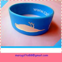 Wholesale fat design segmented color rubber silicone wrist band from china suppliers