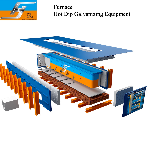 Buy cheap Hot Dip Galvanizing Production Line Equipment Manufacte  High Velocity Furnace Burner Zinc Kettle Pot Supplier from wholesalers