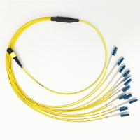 Buy cheap SM G657A2 MPO To LC Breakout Cable 3.0mm 12 Fiber For Data Communication Network from wholesalers