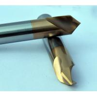 Buy cheap Dia 3 mm 90 Degree Chamfer End Mill , 50 mm Length Milling Machine Cutters from wholesalers
