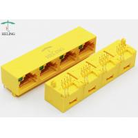 Buy cheap 1 X 4 Ports RJ45 Female Connector Unshielded With Single LED Pipe For Network Router product