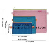 Buy cheap Colored Mesh Zipper Pouch Multipurpose Travel Mesh Bag for Cosmetics Offices Supplies Travel Accessories, stationery pac from wholesalers