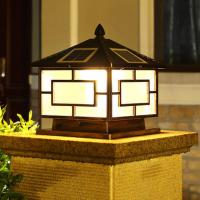 Wholesale 100 Lms High Output Outdoor Post Lantern , Solar Powered Deck Post Lights from china suppliers
