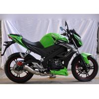 Buy cheap High Speed Motorcycle Racing Bike Classic Green Color Electric / Kick Start from wholesalers