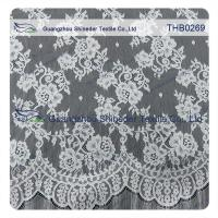 Buy cheap Countless flowers  3*1.5m size  100% nylon chantilly lace fabric for Wedding dress from wholesalers