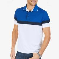 Buy cheap Breathable Color Block Mens Polo Style Shirts Short Sleeve Slim For Summer from wholesalers