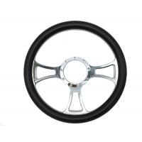 Buy cheap 14 Inch Diameter Quick Release Steering Wheel With Leather Half Wrap Design from wholesalers