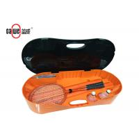 Wholesale Outdoor Portable Badminton Set PP Material Easy To Fold Up Orange Black Color from china suppliers