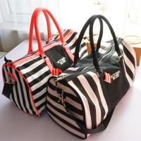 Wholesale Victoria's Secret Travel Bags Large Capacity Duffle Bag for clothes and shoes storage pink replica from china suppliers